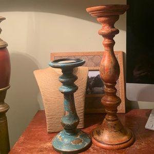 NWT Pottery Barn Shabby Chic Rustic Pillars Decor